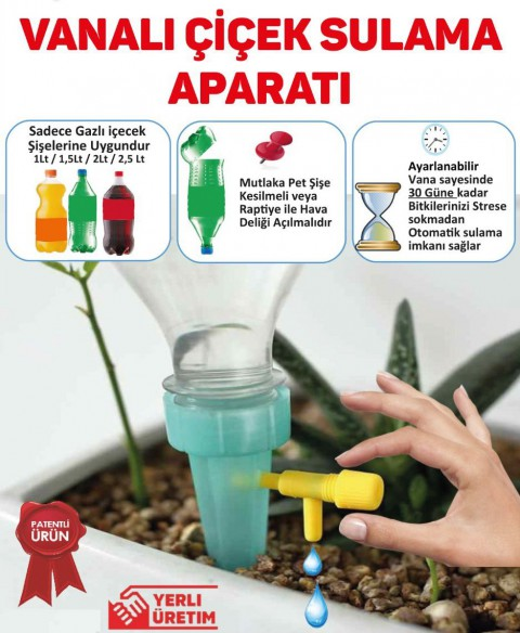 10 Adet Otomatik Çiçek Saksı Sulama Aparatı
