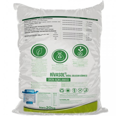 Rivasol 20 Kg Organik Katı Solucan Gübresi
